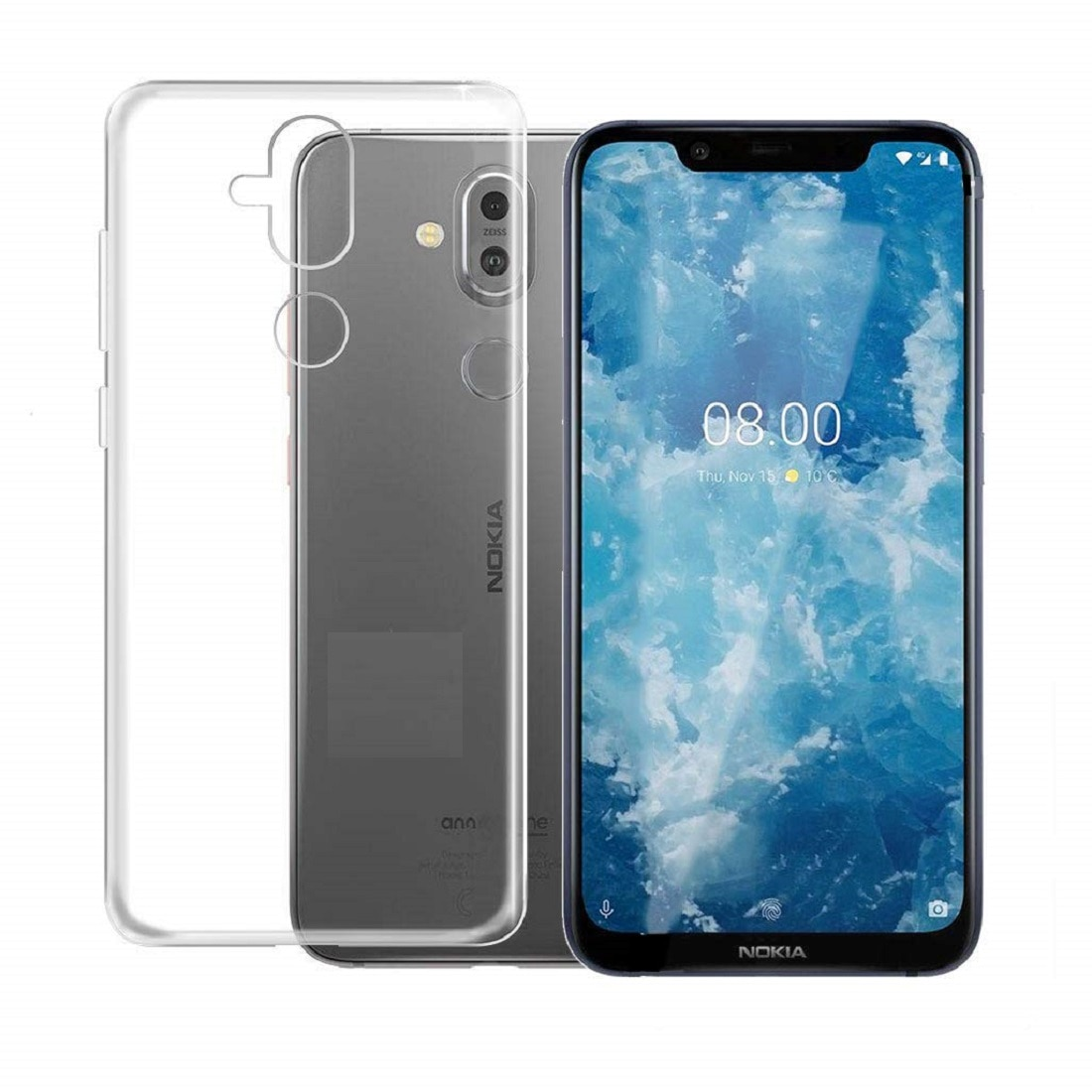 Max Pro Back Cover For Nokia 8.1/Nokia 7.1 Plus (Transparent)