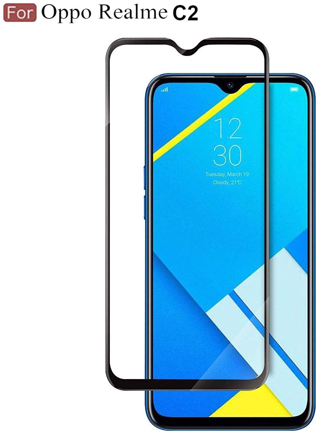Mob2Shop.in Ultra thin tempered glass for Oppo Realme C2 (Pack of 1)