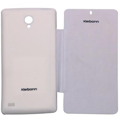 MTE Flip Cover For Karbonn S1 Titanium  White  available at Paytm for Rs.199