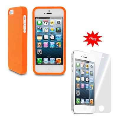 My Dress My Style  Back Cover For Apple IPhone 5 (Orange) With Screen Guard