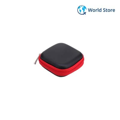 Square EVA Multipurpose Storage Box For Bluetooth Earphone Cable # International Bazaar Paytm Mall Rs. 53