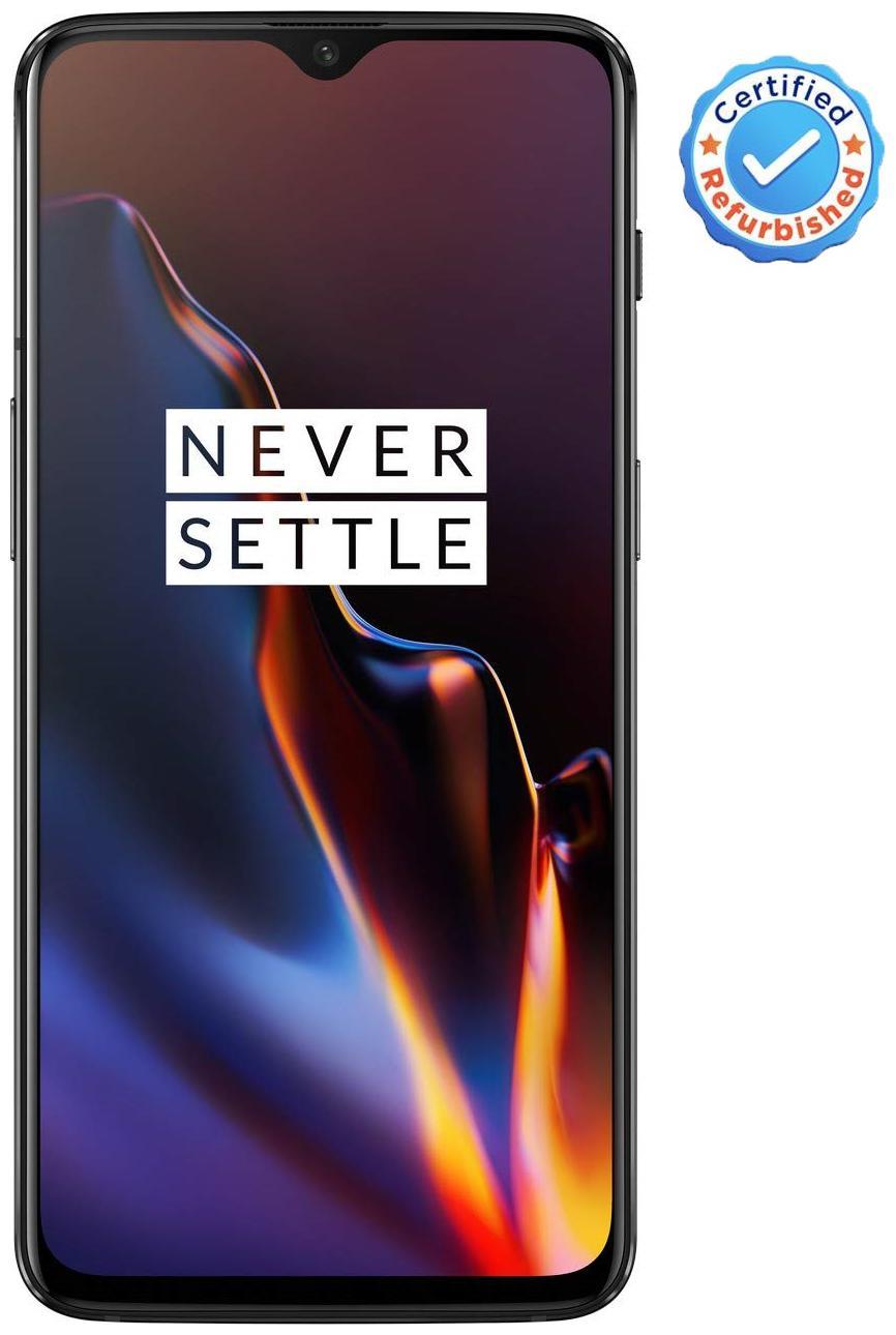Oneplus 6T 6 GB 128 GB Mirror Black (Certified Refurbished)