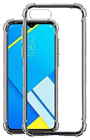 Oppo Realme C2 Shock Proof Protective Anti Shock, Soft Transparent Back Case Cover [Bumper Corners with Air Cushion Technology]
