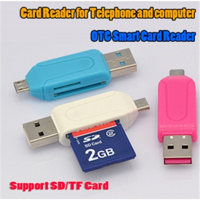 PMG OTG Dual Card Reader for SD & Micro SD Card