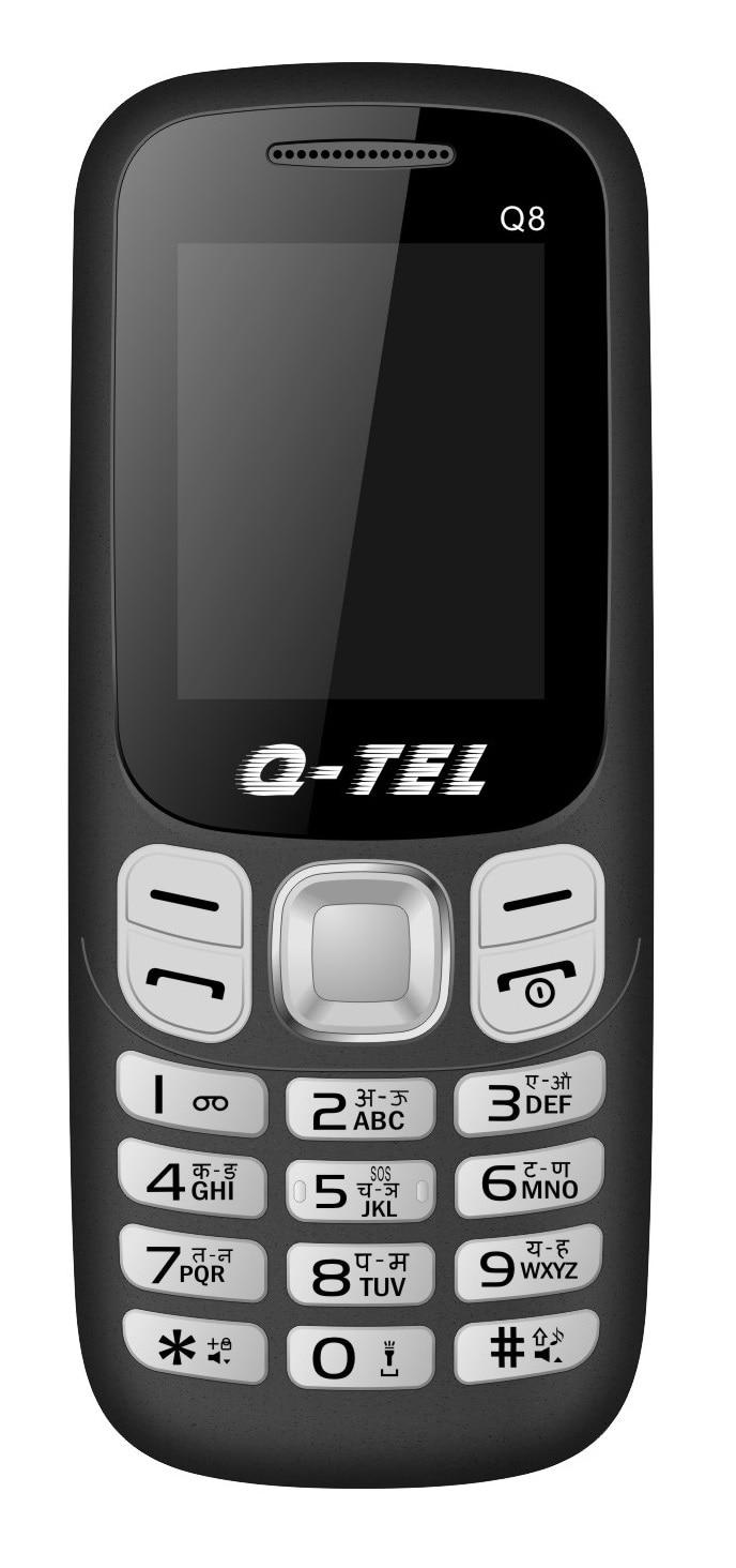 Q-TEL Q8 Dual SIM Feature Phone Black