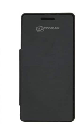 Racip Flip Cover For Micromax A116 Canvas HD  Black  available at Paytm for Rs.165