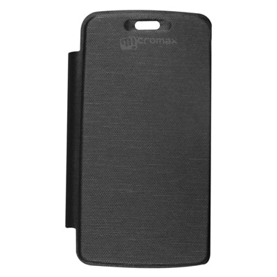 Samshi Flip Cover For Micromax A67 Bolt  Black  available at Paytm for Rs.141