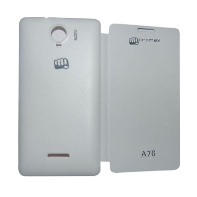 Samshi Flip Cover For Micromax A76  White  available at Paytm for Rs.179