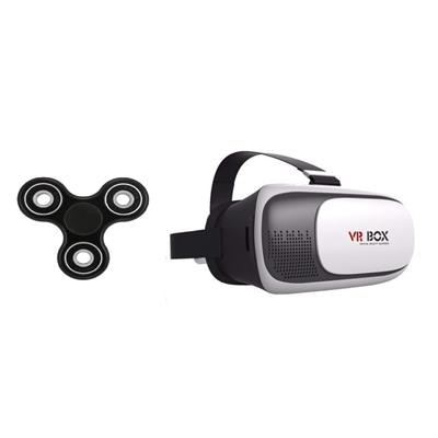 Shutterbugs Combo of Fidget spinner with VR Box ( Assorted colour ) Paytm Mall Rs. 149