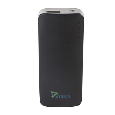 Syska Power Elite 52 5200 mAh Power Bank  Black  available at Paytm for Rs.1229
