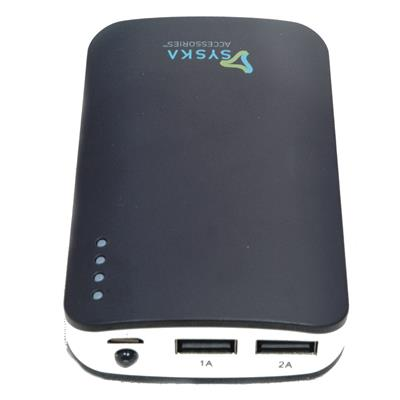 Syska Power Elite 78 7800 mAh Power Bank  Black  available at Paytm for Rs.1249