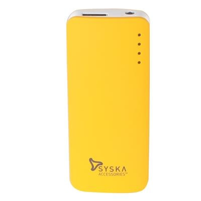 Syska Power Elite 52 5200 mAh Power Bank  Yellow  available at Paytm for Rs.1229