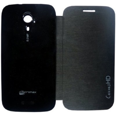 Tidel Flip Cover For Micromax Canvas HD A116  Black  available at Paytm for Rs.199