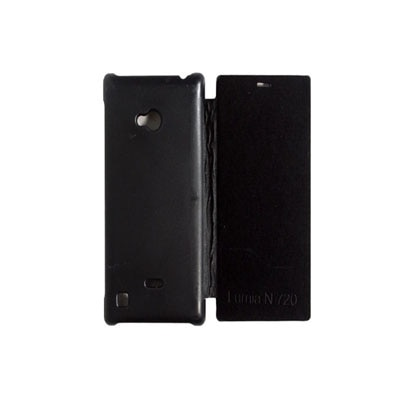 YuniKase Flip Cover For Nokia Lumia 720  Black  available at Paytm for Rs.133