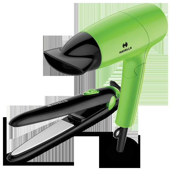 Havells Combo Pack Of Hair Dryer And Hair Straightener HC4035
