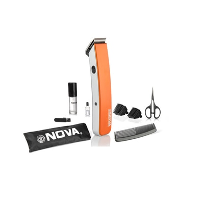 Nova NHT 1047 Cordless Trimmer For Men (Orange)