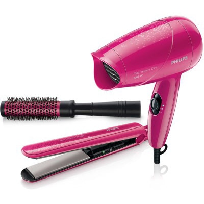 Philips Miss Fresher's Care HP8647/00 Hair Styling Kit (Pink)