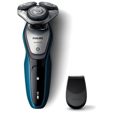 Philips S5420/06 Aqua Touch Electric Shaver For Men (Black & Blue)