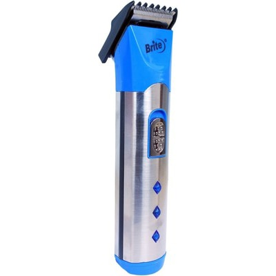 Brite BHT-530 Chargeable Trimmer For Men (Blue & Silver)
