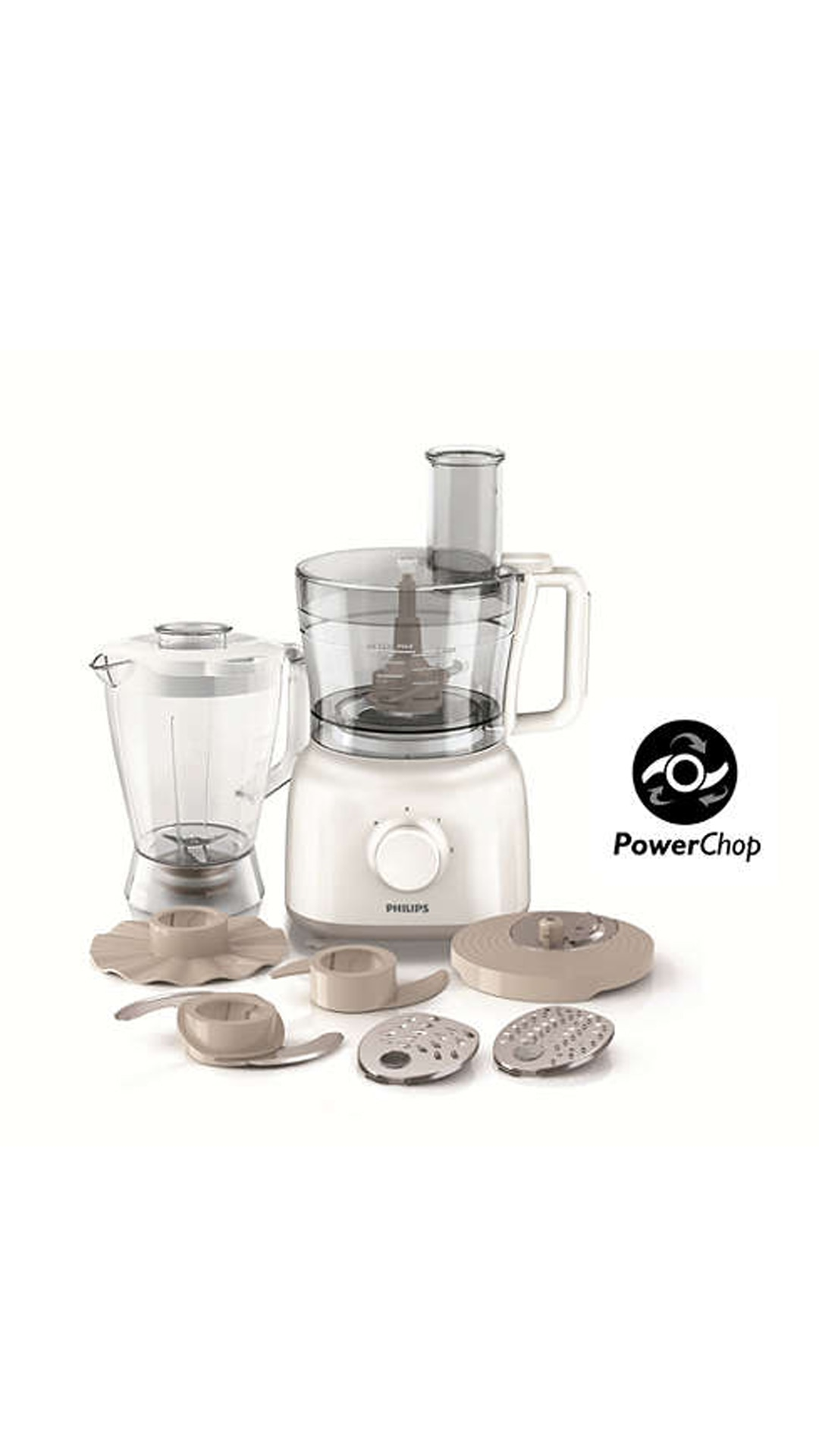 Philips HR 7628/00 650 W Food Processor (White)