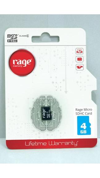 Rage 4GB Class 6 MicroSDHC Memory Card
