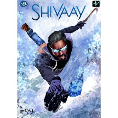 Shivaay Ajay Devgn Digitally Autographed Comics Action Superhero Based On Bollywood Movie