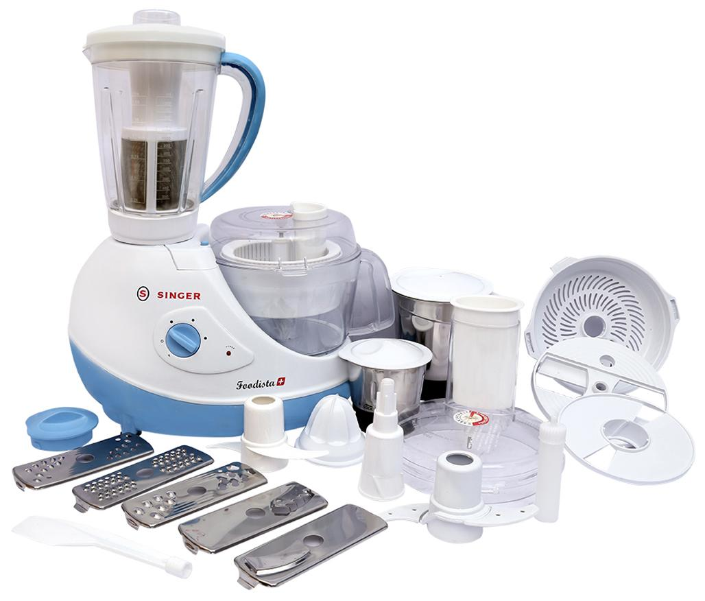 Foodista Plus 600 W Food Processor (White)
