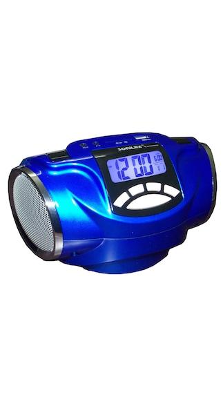buy sonilex alarm clock radio with fm radio usb sd player blue online at lo. Black Bedroom Furniture Sets. Home Design Ideas