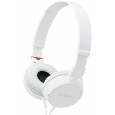 Sony MDR-ZX100 Sound Monitoring Wired Over Ear Headphone (White)