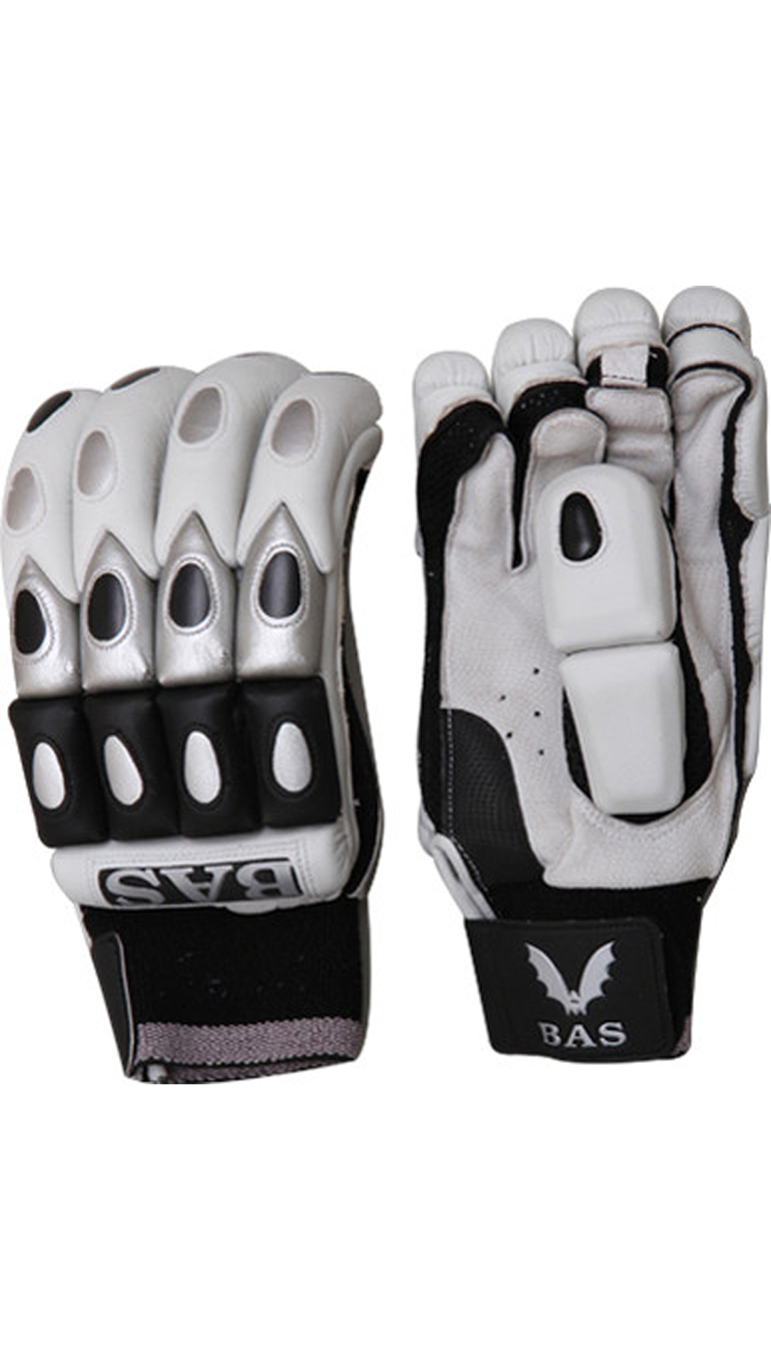 BAS Vampire Bg56 Batting Glove-Black And White (Size-L)