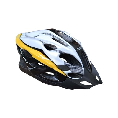 Cockatoo Adjustable Cycling Helmet-Yellow And Silver (Size-L)
