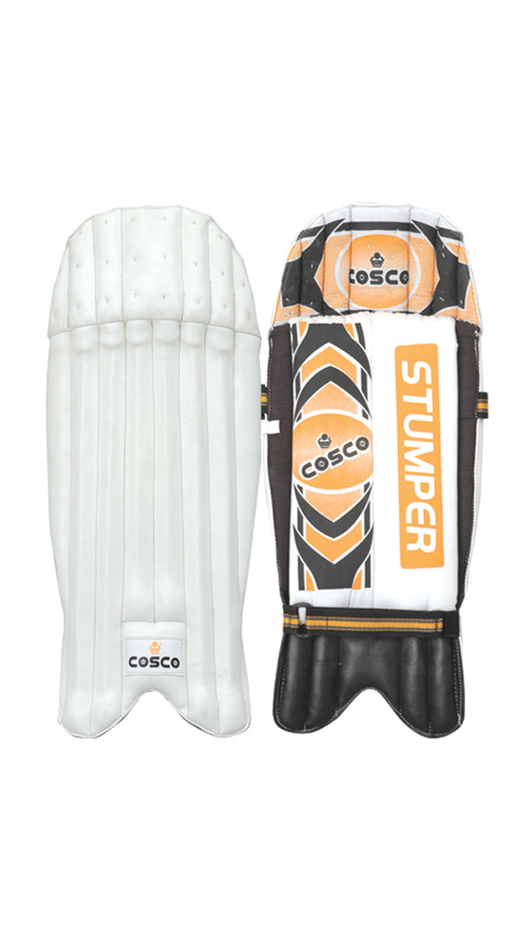Cosco Stumper Wicket Keeping Pad-White