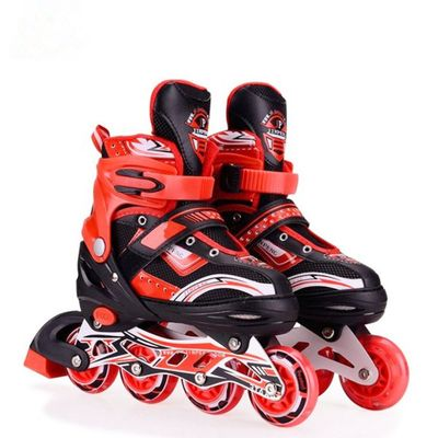 Hoteon Red MEDIUM Inline skates with aluminium frame and LED...