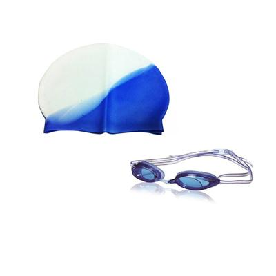 Pickadda Combo of Imported Swimming Silicon Cap + Goggles Fit...