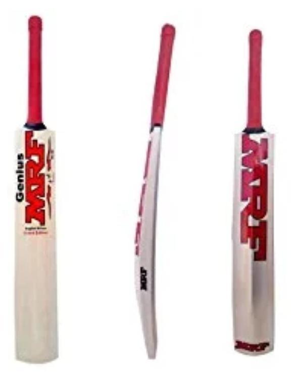 RK Enterprises MRF Transparent Sticker Poplar/Popular Willow Cricket Bat (For Tennis Ball) Size-6 (For Age Group 15+ Yrs)