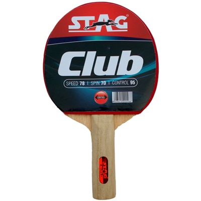 Stag Club Table Tennis Racquet-Black And Red