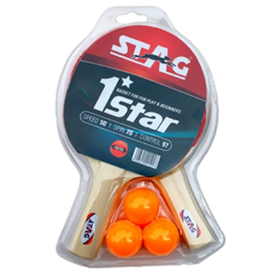 Stag Table Tennis Set-Black And Red