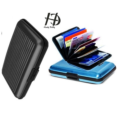 Aluma Card Holder in Assorted Color with 6 Flaps-(Set Of 2)