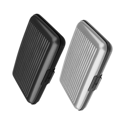 Aluma Wallet Designer Card Holder - Black & Silver