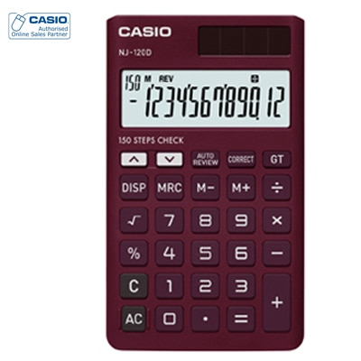 Casio NJ-120D-RD Portable Calculator
