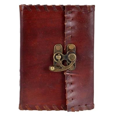 Craft Play Leather With Lock Diary