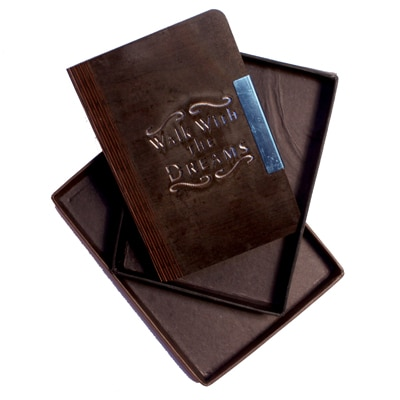 Eshop Wooden Engraved A6 Diary With Message