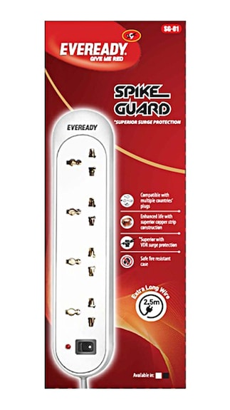 Eveready Spike Guard SG01- Surge Protector (White)