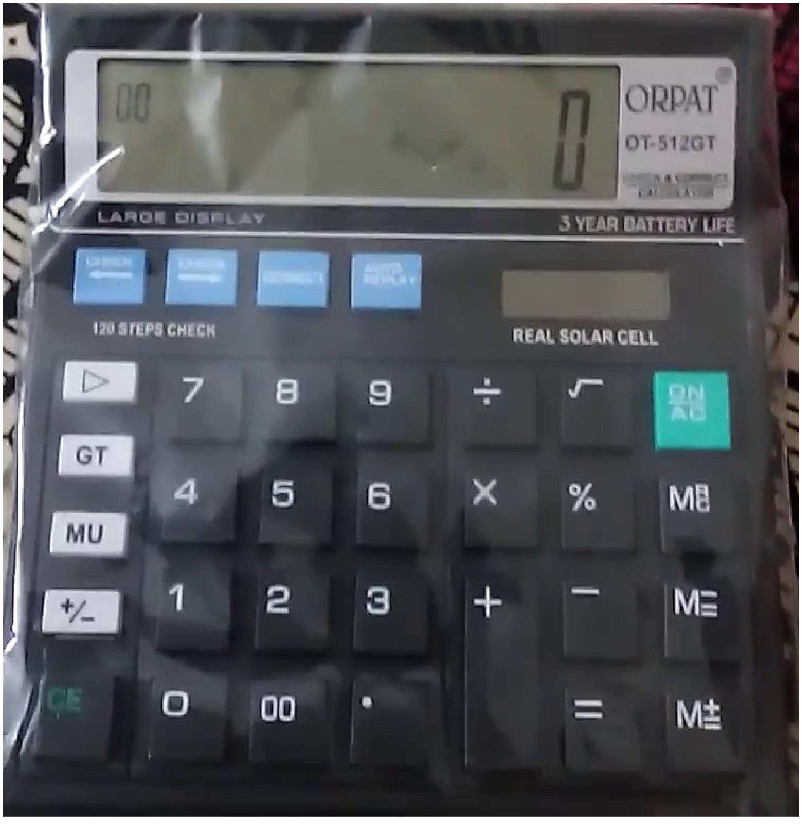Orpat 0.14 Calculator OT-512GT Basic Black