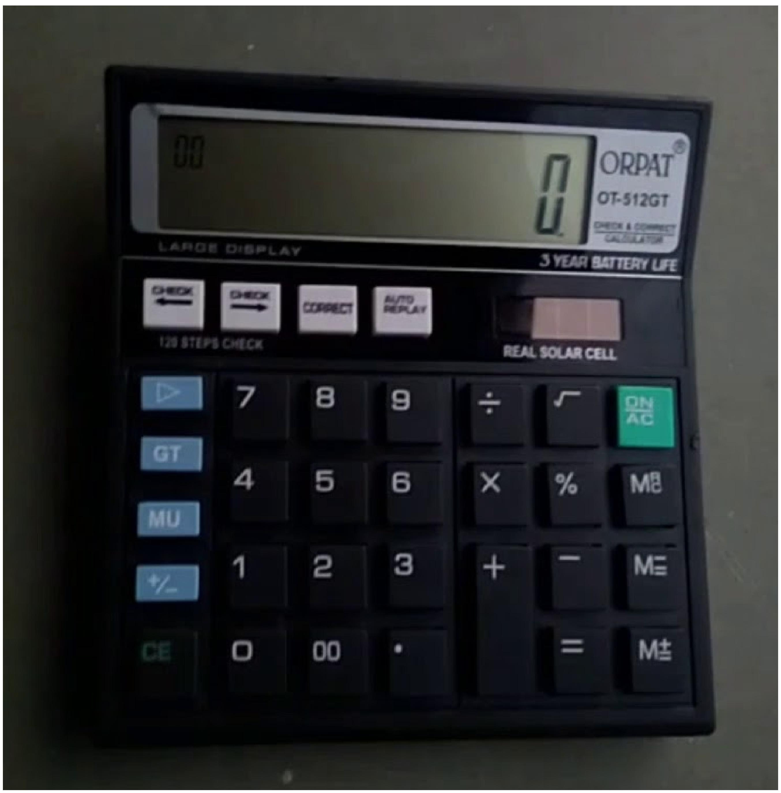 Orpat 0.35 Calculator OT-512GT Basic Black