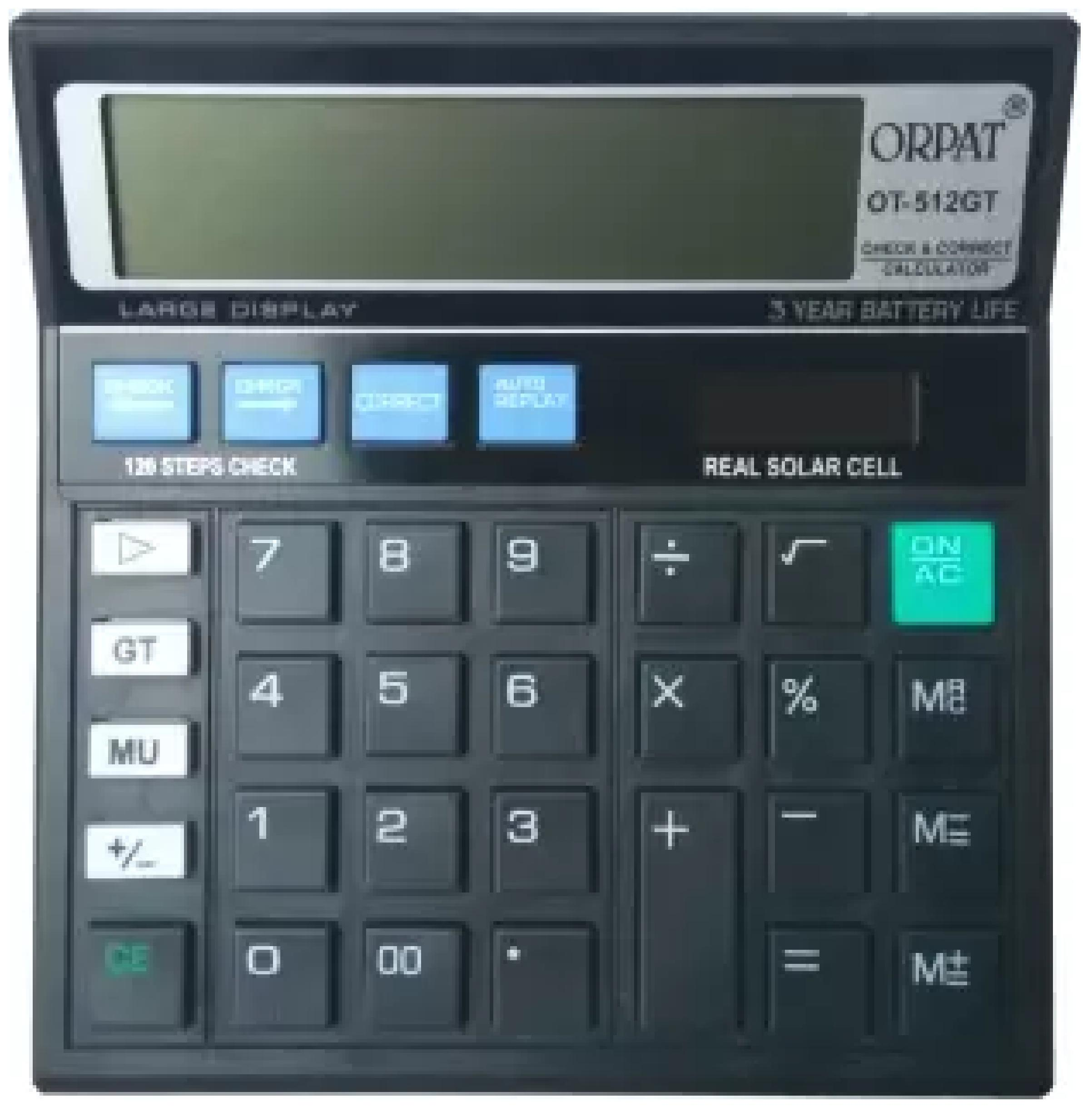 Orpat 0.8 Calculator OT-512GT Basic Black