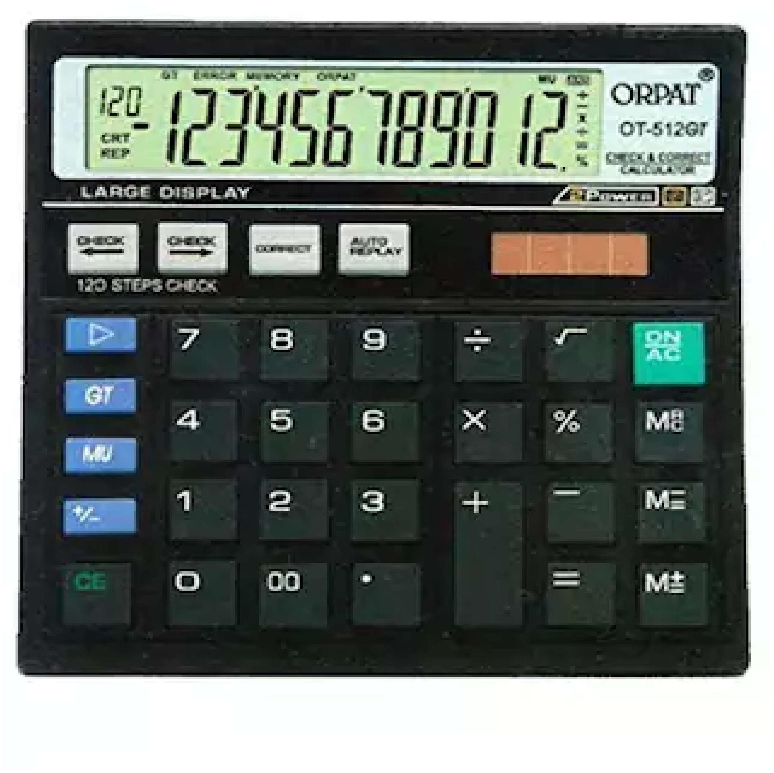 Orpat 0.50 Calculator OT-512GT Basic Black