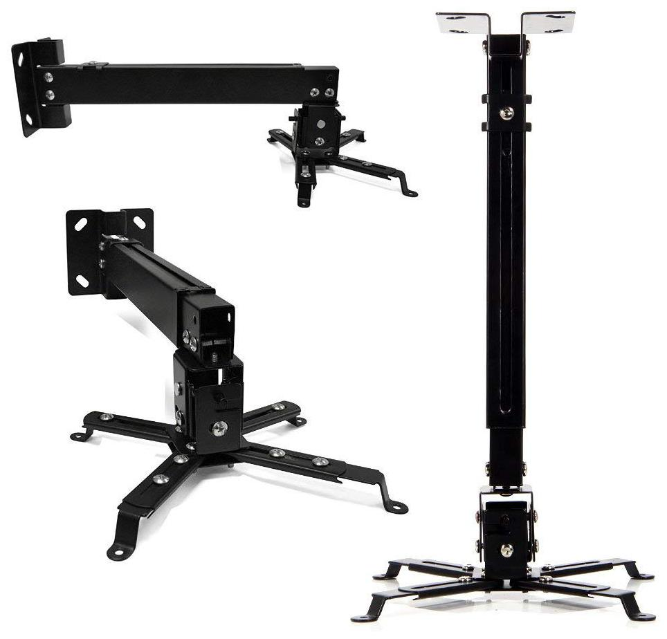 Tech Gear 3 Feet Long Ceiling Mount Kit Projector Stand Height Adjustable Solid Projector Bracket Swivel Ceiling Mount for Projectors