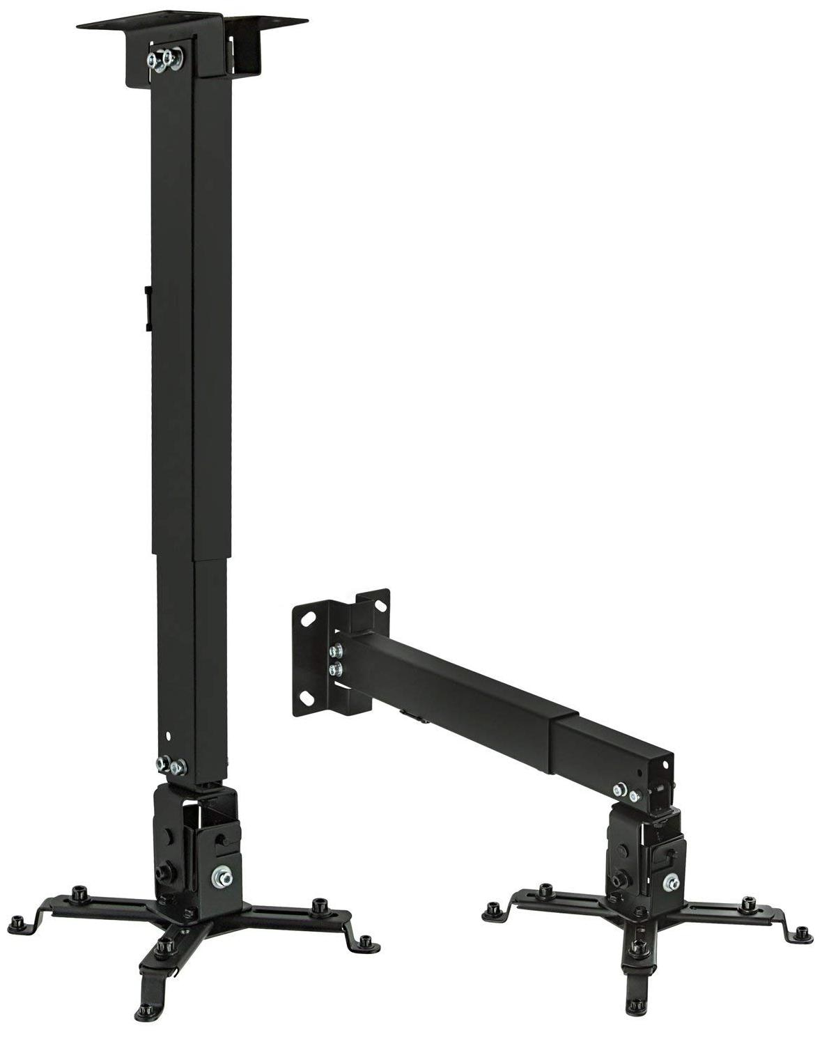 Tech Gear 6 Feet Long Ceiling Mount Kit Projector Stand Height Adjustable Projector Bracket Ceiling Mount for Projector