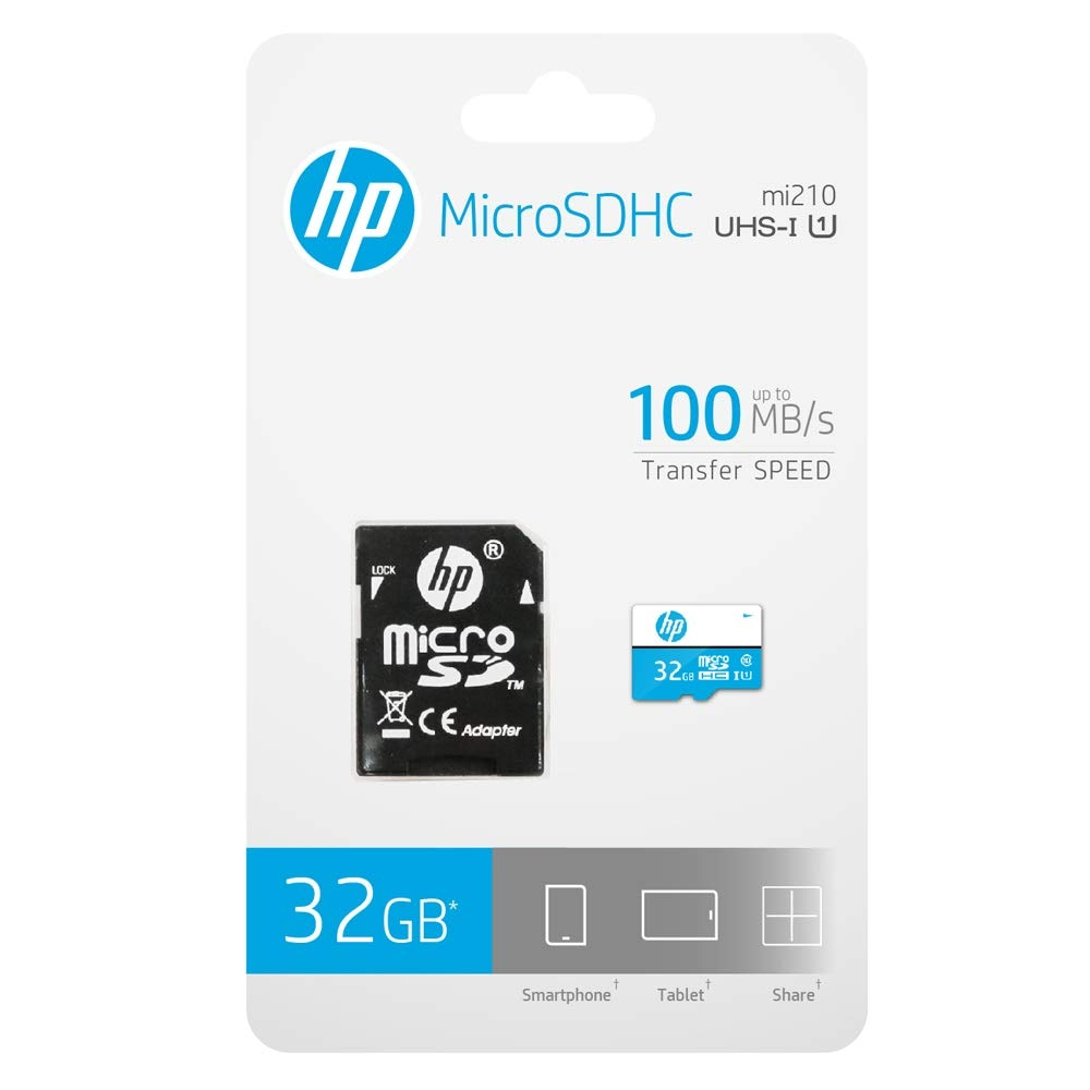 HP MicroSDHC 32 MicroSDHC Class 10 Memory Card